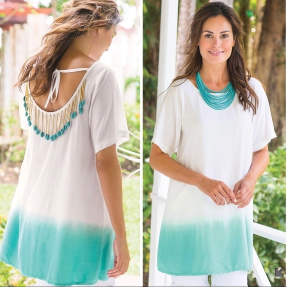 Soft Surroundings Tops - Soft Surroundings Ombré Shell Tunic